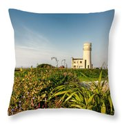 Old Hunstanton Lighthouse North Norfolk Uk Throw Pillow