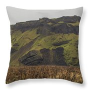 Old Icelandic Island Panorama Throw Pillow