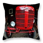 Old International Harvester Tractor Throw Pillow