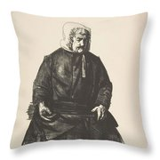 Old Irish Woman, First State By George Bellows Throw Pillow