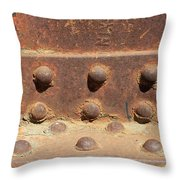 Old Iron Hinges Throw Pillow