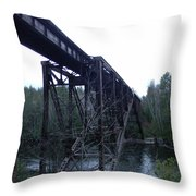 Old Iron Holding Strong Throw Pillow