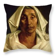 Old Italian Peasant Throw Pillow