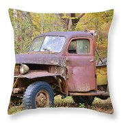 Old Jalopy Throw Pillow