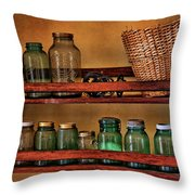 Old Jars Throw Pillow by Lana Trussell
