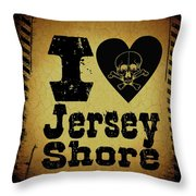 Old Jersey Shore Throw Pillow