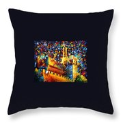 Old Jerusalem Throw Pillow by Leonid Afremov