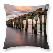 Old Jetty Near Castlerock Throw Pillow