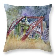 Old John Deere Tractor In The Back 40 Throw Pillow