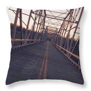 Old Knik Bridge 3 Throw Pillow