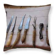 Old Knives Throw Pillow