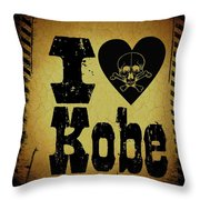 Old Kobe Throw Pillow