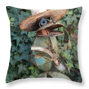 Jeanne's Garden Throw Pillow