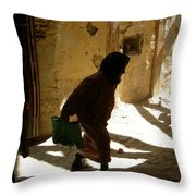 Old Lady Tangier. Throw Pillow