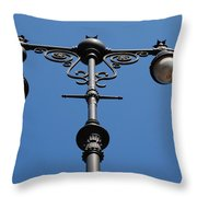Old Lamppost Throw Pillow