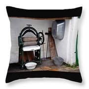 Old Laundry Throw Pillow