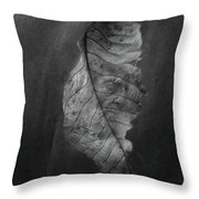 Old Leaf Throw Pillow