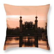 Old Lift Lock Throw Pillow