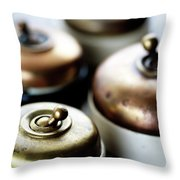 Old Light Switches Throw Pillow