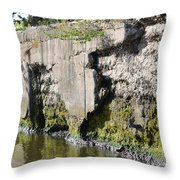 Old Lock And Dam Throw Pillow