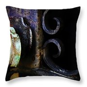 Old Lock On A Cast Iron Gate Throw Pillow