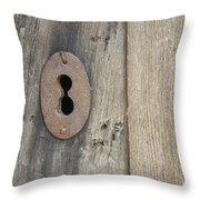Old Lock Throw Pillow by Stefano Piccini