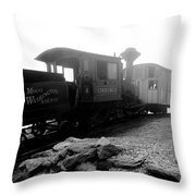 Old Locomotive Throw Pillow