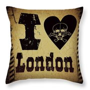 old London Throw Pillow