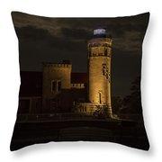 Old Mackinac Point Light, Mackinaw City Mi Throw Pillow