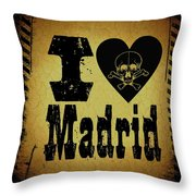 Old Madrid Throw Pillow