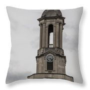 Old Main From Front Clock Throw Pillow