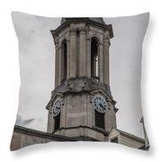 Old Main Penn State Clock  Throw Pillow