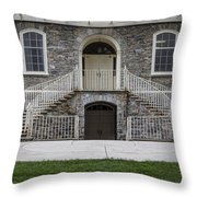 Old Main Penn State Stairs  Throw Pillow