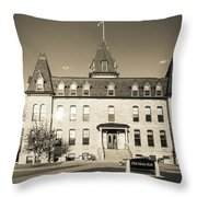 Old Main Sepia Throw Pillow