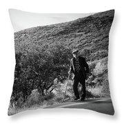 Old Man In Rural Greece Throw Pillow
