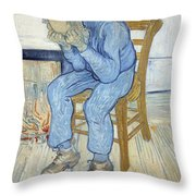 Old Man In Sorrow Throw Pillow