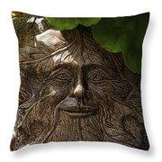Old Man In The Garden Throw Pillow