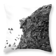 Old Man In The Mountain Throw Pillow
