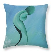 Old Man In The Rain Throw Pillow