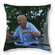 Old Man Keeps The Body Moving Throw Pillow