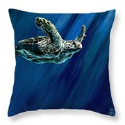 Old Man Of The Sea Throw Pillow
