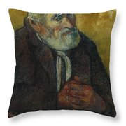 Old Man With A Stick Throw Pillow