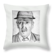 Old Man With Hat Throw Pillow