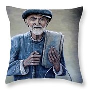 Old Man With His Stones Throw Pillow