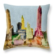 Old Manhattan Throw Pillow