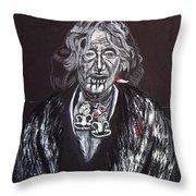 Old Maori Wahine Throw Pillow
