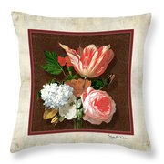 Old Masters Reimagined - Parrot Tulip Throw Pillow
