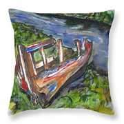 Old Memory Throw Pillow by Clyde J Kell