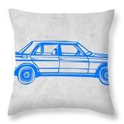 Old Mercedes Benz Throw Pillow by Naxart Studio