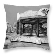 Old Mesilla Plaza And Gazebo Throw Pillow by Jack Pumphrey